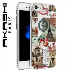 Coque iPhone 7 - I Love Paris Akashi